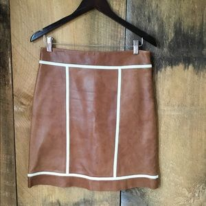 Michael Kors Leather Skirt